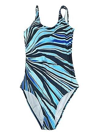 Kaitobe Womens Plus Size One Piece Swimsuits Tummy Control Swimwear Rainbow Print Slimming Monokini Bathing Suits