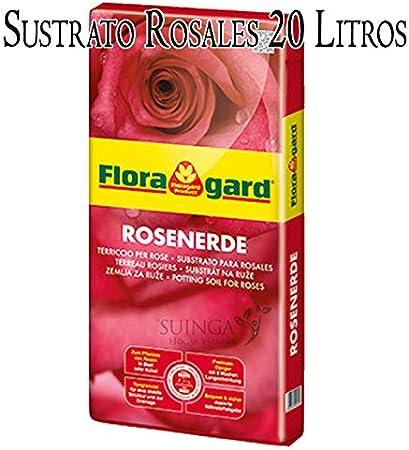 SUSTRATO para ROSALES Floragard 20 litros. Nutriente especial de ALTA CALIDAD para los rosales