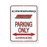 "Camaro SS Logo Parking Only Sign - 9"" x 12"""