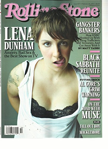 ROLLING STONE,FEBRUARY, 28th, 2013(LENA DUNHAM ANEXIETY. BAD SEX & THE BEST SHOW by Generic