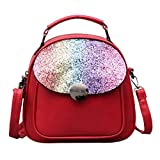 Aobiny Backpack Light Shoulder Oblique Shoulder Travel Bbag (Red)