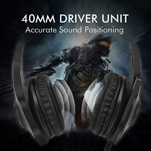 [Newest 2019] Gaming Headset for Xbox One S, X, PS4, PC with Soft Breathing  Earmuffs, Adjustable Mic, Comfortable Mute & Automatic Cycling RGB LED