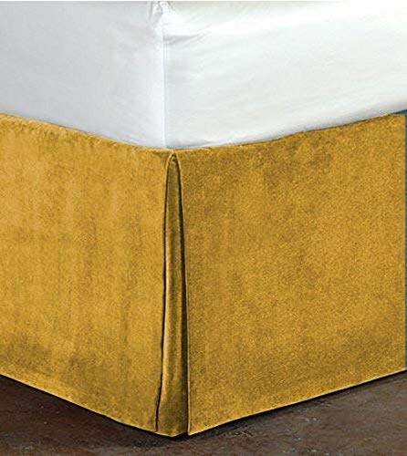 - PS LINEN Classy Royal 100% Cotton Velvet Bedskirt/Valance 15