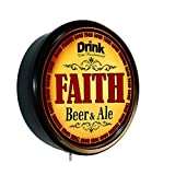 FAITH Beer and Ale Cerveza Lighted Wall Sign