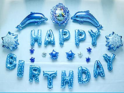 frozen decoration happy birthday letters alphabet foil balloon decoration celebration party decoration