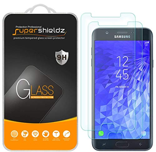 [2-Pack] Supershieldz for Samsung (Galaxy J7 Crown) Tempered Glass Screen Protector, Anti-Scratch, Bubble Free, Lifetime Replacement ()