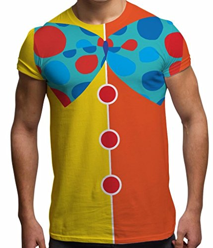 Men's Halloween Tee Horror T Shirt Clown Costume #3 Graphic Tops