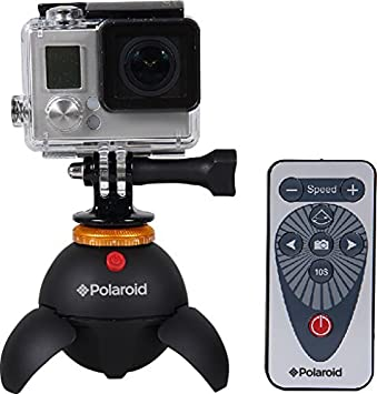 Polaroid Rechargeable Panorama EyeBall Head w/Attachments for GoPro Action  Cameras, Bluetooth Digital Devices & All Tripod Mounted Cameras &