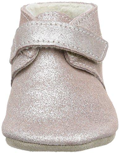 Robeez Pole Nord - pantuflas de cuero Bebé-Niños Rosa (131)