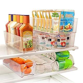 Greenco GRC0250 6 Piece Refrigerator and Freezer Stackable Storage Organizer Bins with Handles, Clear (B014Q8AZRO) | Amazon Products