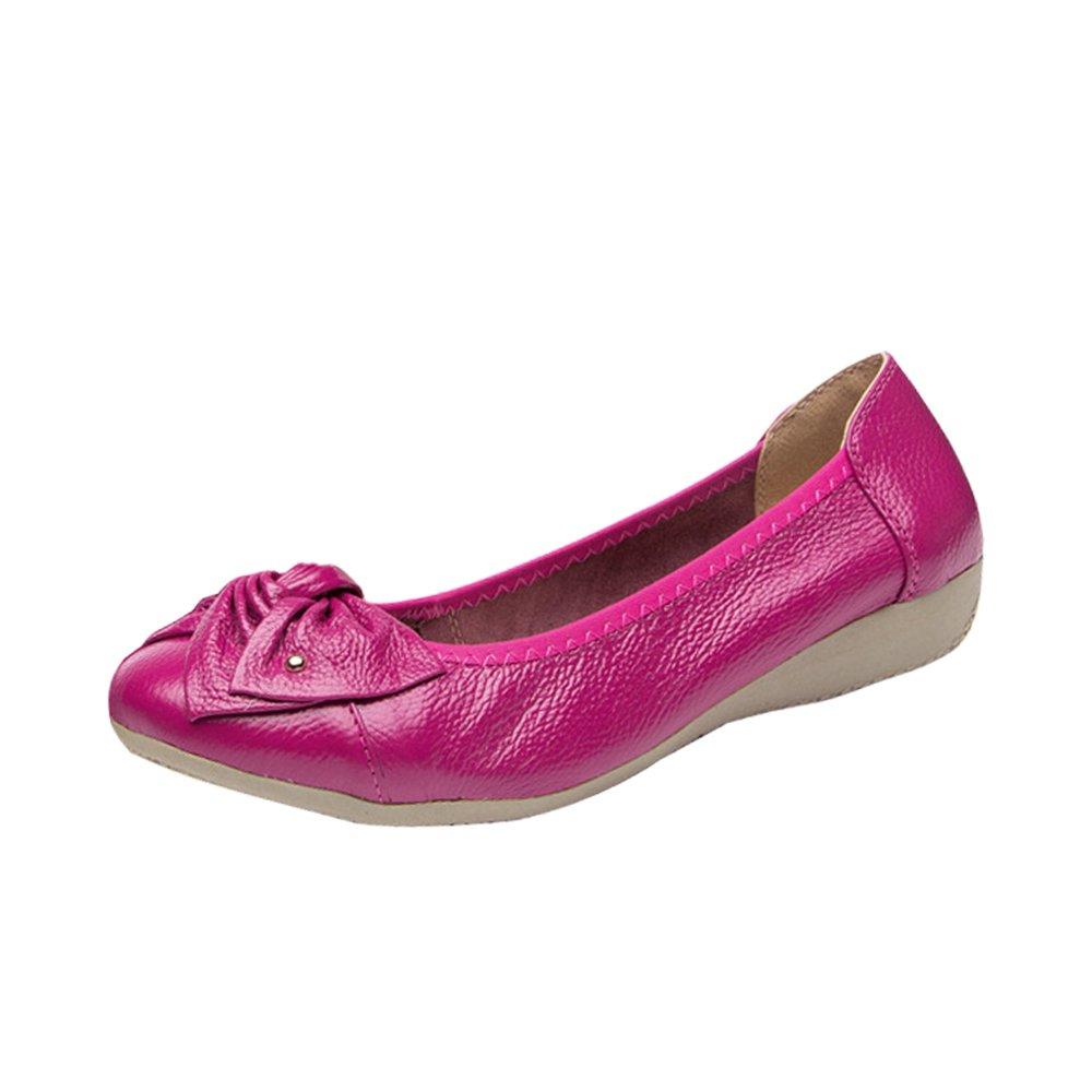 OCHENTA Chaussures Femme Ballerines Confortable Chaussures de Travail Mocassins Epaisse Femme OCHENTA Semelle Epaisse Rose Rouge aecd9a5 - latesttechnology.space