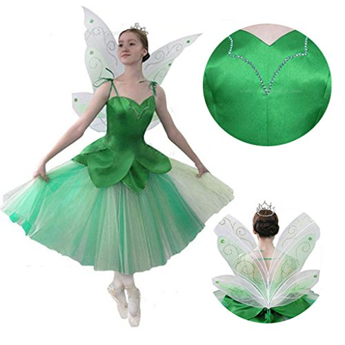 [CosplayDiy Women's Adult Fancy Dress for Princess Tinkerbell Costume XXXXL] (Tinkerbell Costumes Plus Size)
