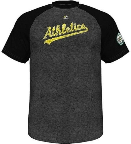 VF Oakland A's MLB Majestic Cooperstown Retro Raglan Men's T Shirt Big & Tall Sizes (5XT) ()