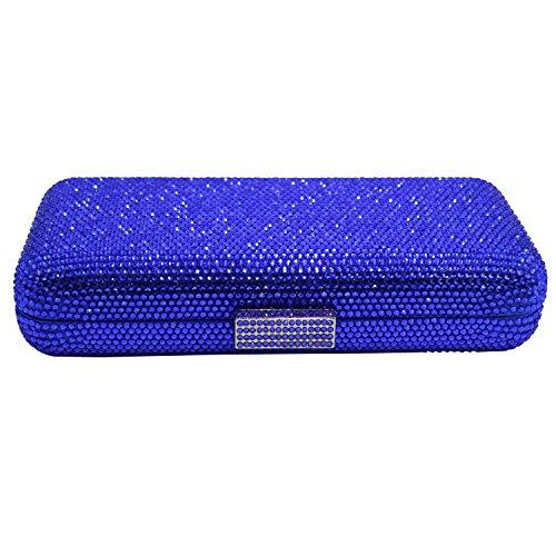 Blue Crystal Box Bags DMIX Clutch Evening XSwAw