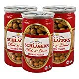 Cheap Premium Roasted Chili Lime Peanuts (3 pack, 21oz) by Schlagers