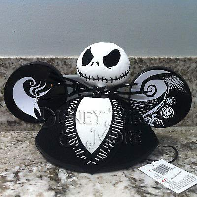 Disney Parks Jack Skellington Nightmare Before Christmas 3D Face Mickey Ears Hat
