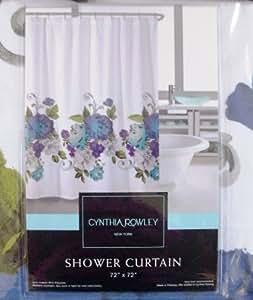 cynthia rowley miss friday purple blue roses