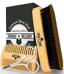 Beard Brush & Comb Set for Men's Care   ...