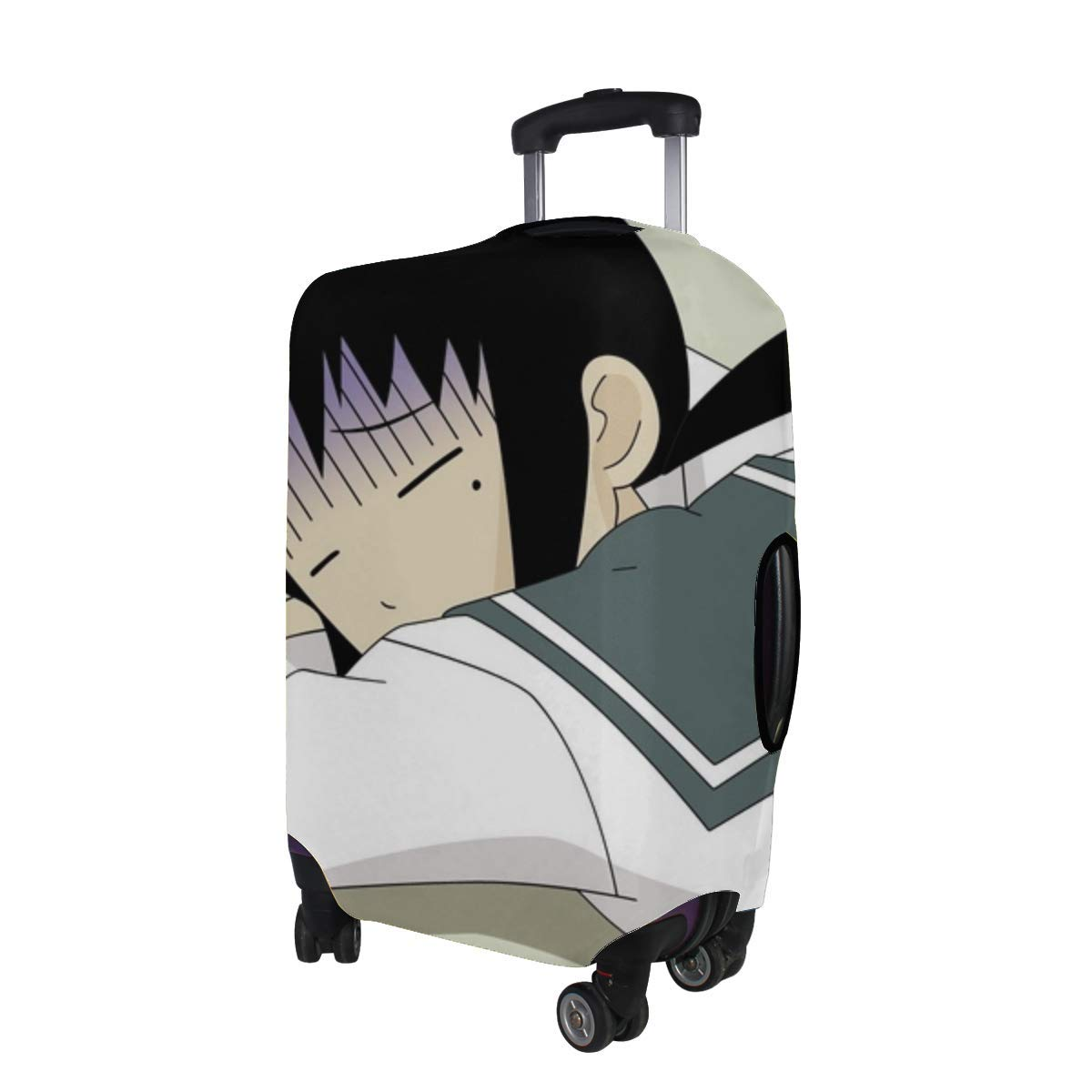 Maxm Sayonara Zetsubou Sen Schoolgirl Sleeping Pattern Print Travel Luggage Protector Baggage Suitcase Cover Fits 18-21 Inch Luggage