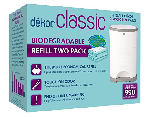 Diaper Dekor Plus Biodegradable Refills - Dekor Classic Diaper Pail Biodegradable Refills