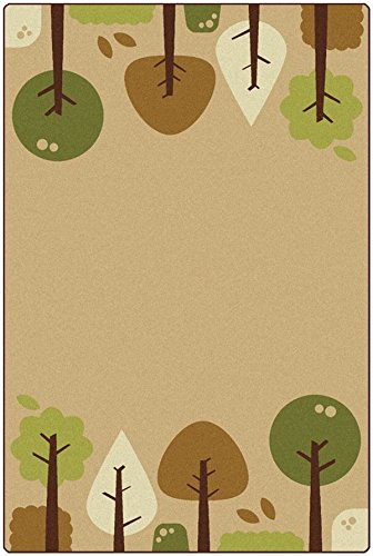 Trees Tranquil (Carpets for Kids 29754 Kidsoft Tranquil Trees, Red Velvet)