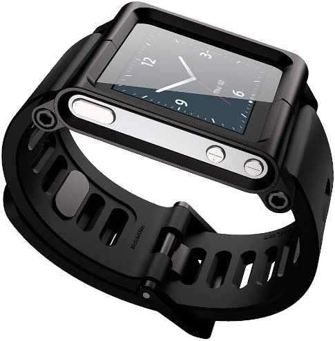 Amazon Com Lunatik Reloj Correa De Muñeca Para Ipod Nano 6 G Negro Electronics