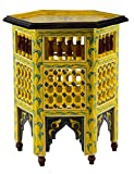 Cheap Moucharabi Painted Wood Table Yellow