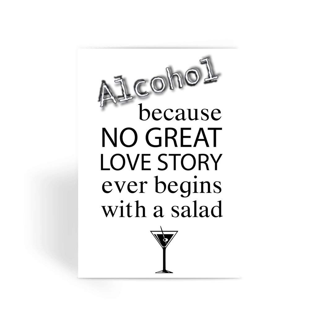 Funny love card Valentines Card Rude Card Alcohol No Great Love Story Greeting Card Funny anniversary card