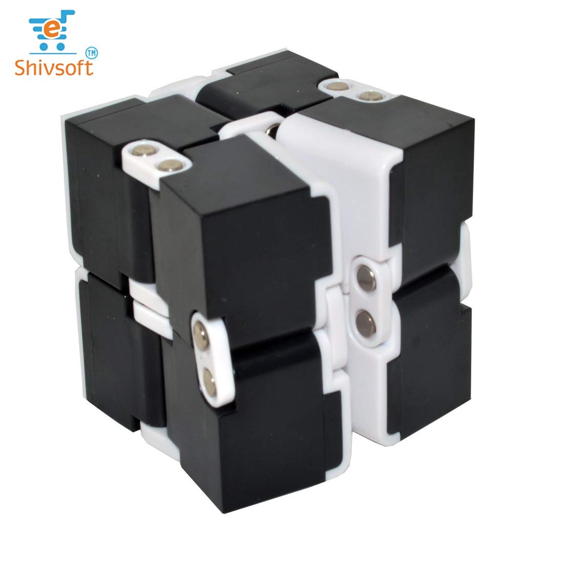 Infinity Cube Puzzle Decompression for Kids and Adults (White) by OK Seller (Image #1)