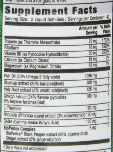 Irwin Naturals Stress-Defy, Balanced Relaxed Calm, Stressful Day Neutralizer, 84 Liquid Softgels by Irwin Naturals (Image #1)'