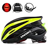 KINGBIKE Adult Bike Helmet Ultralight with Bicycle Helmets Backpack and Safety Rear Led Light Visor for Men Women Cycling Biking Review