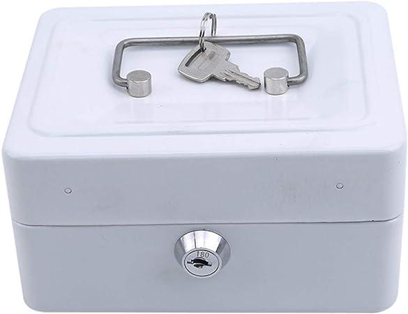 L_shop - Caja de Seguridad portátil para Guardar Dinero, Joyas o cajones, para el hogar, Metal, Blanco, As it is Description: Amazon.es: Hogar