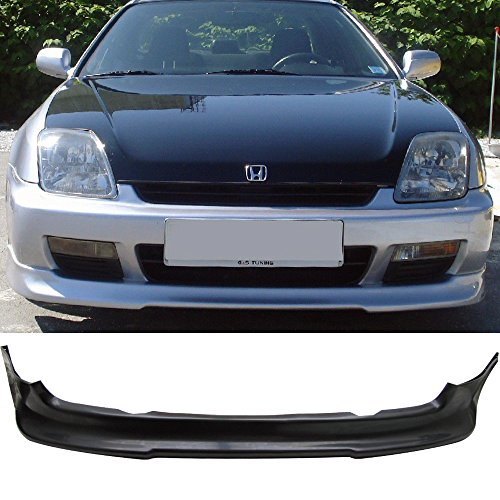 Front Bumper Lip Fits 1997-2001 HONDA PRELUDE | Type sport PU Black Front Lip Spoiler Splitter Air Dam Chin Diffuser Add On by IKON MOTORSPORTS | 1998 1999 2000