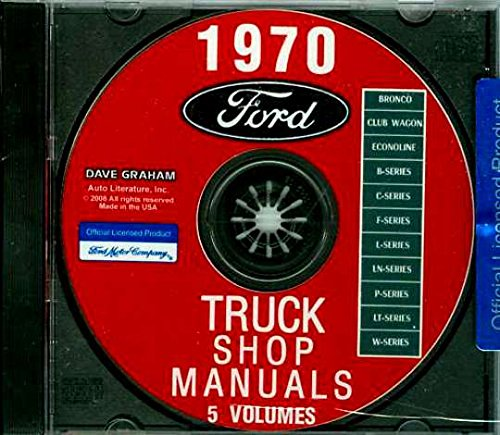 (STEP-BY-STEP 1970 FORD TRUCK & PICKUP FACTORY REPAIR SHOP & SERVICE MANUAL CD - INCLUDES F100 F150 F250 F350 F500 F600 TO F7000, C-Series, W-Series, P-Series, WT-Series, L-Series, LN-series, N-Series, HT-Series 70)