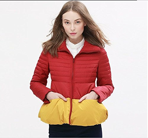 Xuanku Women 'S Autumn And Winter A - Type Hit Color Down Jacket Female Short Paragraph 43My1803 Red wine