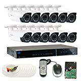 Cheap GW Security 2.1MP HD-TVI 1080P Complete Security System | (12) x 2.1MP HDTVI (True HD 1080P) Outdoor 2.8-12mm Varifocal Zoom Bullet Security Cameras, 16-Channel Plug and Play DVR, 4TB Hard Drive