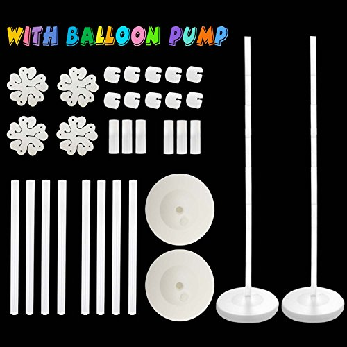 Balloon Columns Arch - 2 set Balloon Arch with BALLOON PUMP Balloon Column Kit 48