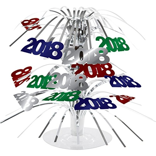 2018 Multi Color Party Centerpiece Foil New Years Eve, (Centerpieces For Graduation Parties)