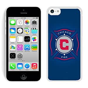 Fashionable And Antiskid Designed iPhone 5C Case MLS Chicago Fire For iPhone 5C Protective Skin Cover Case 05 White