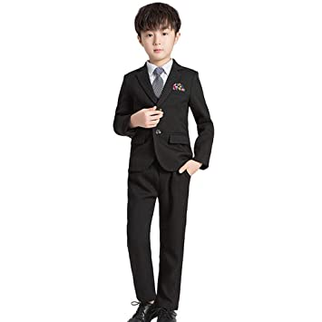 ZFF Chicos Gris 5 Piece Suit, Formal de la Boda del Partido de ...