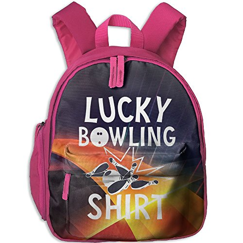 Lucky Bowling Shirt Toddler Mini Backpack Shoulder Schoolbag With Front Pockets