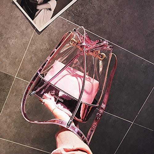 De Pink Cruzados La De PVC De La Holográficos del del Partido Transparentes Bolso Bolsos GZHGF Hombro Bolsos Tarde Totalizador Pink Embrague Tarde De Mujeres La De del Cuadrados Las Muchacha Bolsos PXx0qwA