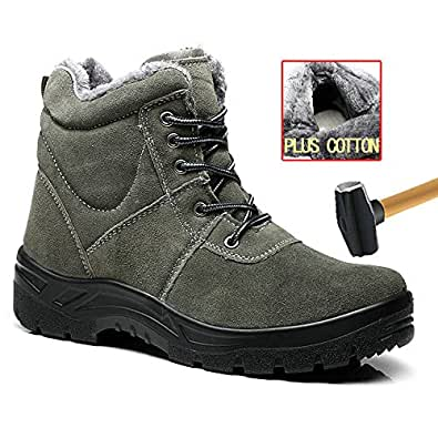Amazon.com: Winter Safety Shoes for men Safety boots Steel