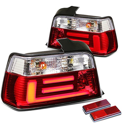 DNAMotoring TL-LED-3D-E3692-4D-CL Tail Light Assembly, Driver and Passenger Side ()