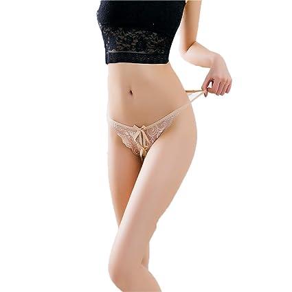 Tanga Sexy - Mujer Transparente Tentación Caliente Bajo Cintura De Encaje Camiseta Abierta Ropa Interior Japonesa