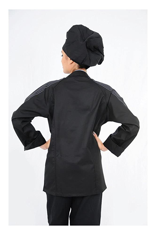DAM Uniforms Unisex Long Sleeves with Stripes Chef Coat