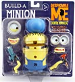 Despicable Me Build a Minion Figure with Welding Goggles, Ray Gun, Hard Hat, Plunger, Extra Eyes, Hands and Mouth