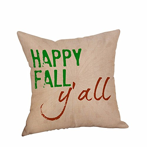 Halloween Adornment KIKOY Pillowcases Linen Letter Printing Sofa Cushion Cover (F)