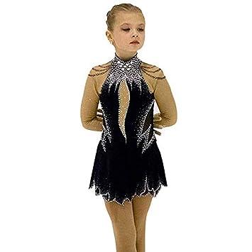 Amazon.com: Kmgjc - Vestido de patinaje artístico, de licra ...