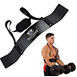 Fitness Arm Curl Blaster for Biceps, Biceps Blaster Muscle Bomber Support for Triceps Neck Elbow Exercise Workout Bodybuilding, Biceps Isolator for Bodybuilders Weightlifters